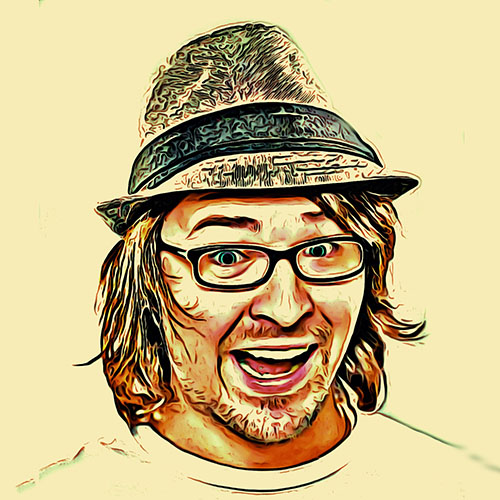 19312652 - fedora wearing caucasian man with glasses and goofy smile